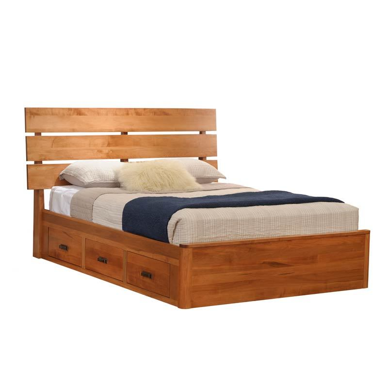 Galaxy Slat Platform Bed With Drawers Millcraft Furniture